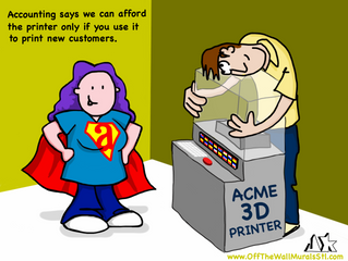 Expense Analysis Says… No 3-D Printer!