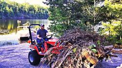 Massy Ferguson Tractor Brush Removal