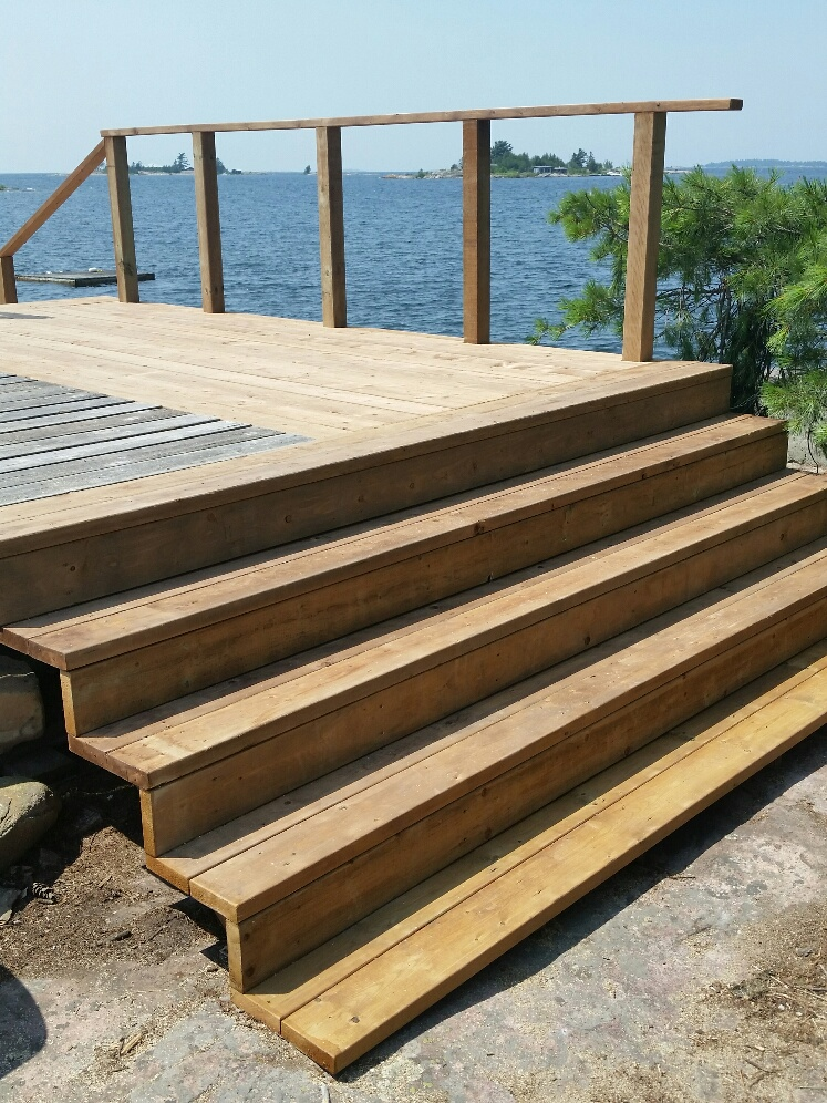 Georgian Bay Island Deck