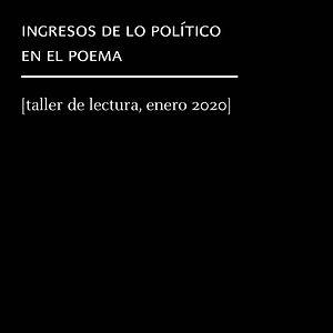 taller política y poesía