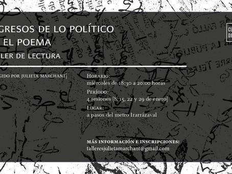 Ingresos de lo político en el poema [enero 2020]