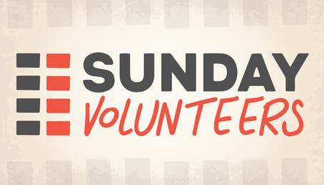 Sunday Volunteers