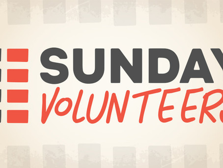 Sunday Volunteers