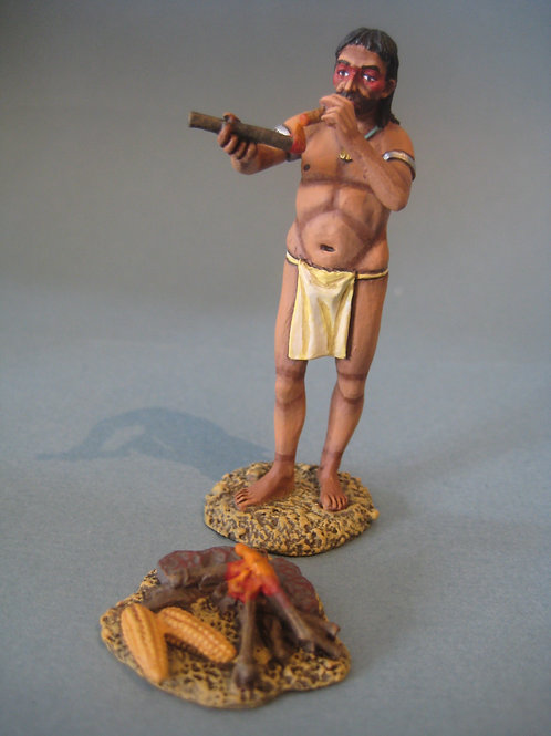 TEAM MINIATURES -REF CLB6013- COLOMB  - INDIEN - ROTIR MAIS - FUMANT  CIGARE-