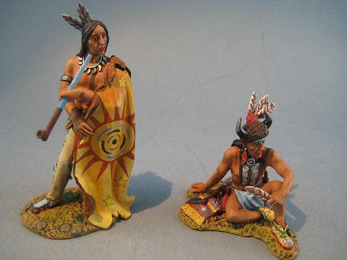 TEAM MINIATURES -REF IDA6027B- INDIENS ASSIS ET DEBOUT PARLANT