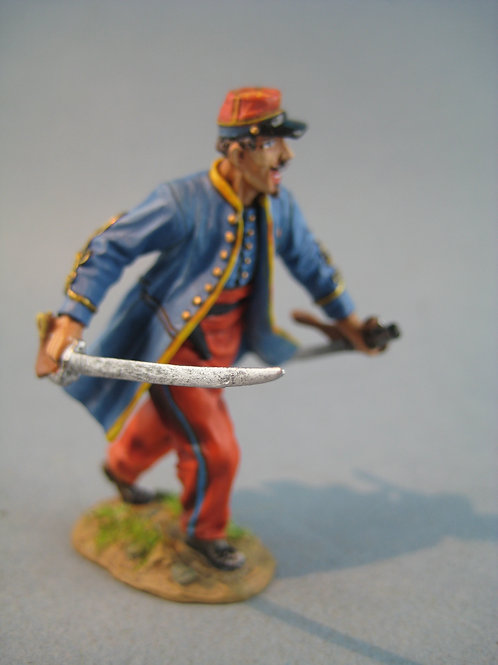 TEAM MINIATURES -REF PFW-Z6001 - Guerre de 70 -Zouave officier à l'assaut