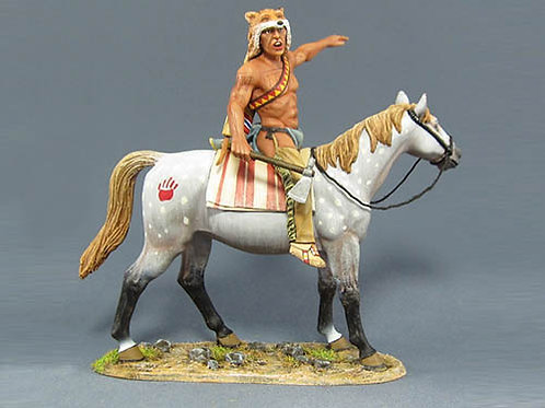 TEAM MINIATURES -REF IDA6004 -INDIEN SIOUX  A CHEVAL