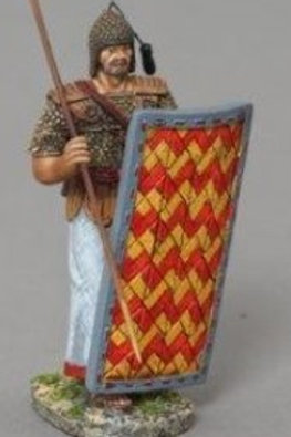 THOMAS GUNN - Rèf XE009C -EGYPTIEN BOUCLIER CHEVRON ROUGE ET JAUNE 2