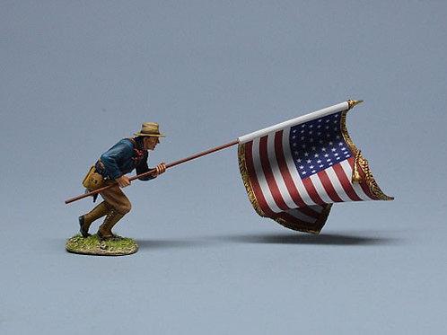 TEAM MINIATURES -REF SPA6013- GUERRE  CUBA 1898-SOLDAT US DRAPEAU AMERICAIN 2