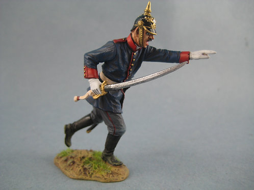 TEAM MINIATURES -REF PFW-P6008- GUERRE DE 70-  OFFICIER ALLEMAND A L'ASSAUT