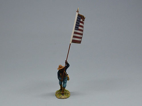 TEAM MINIATURES -REF SPA6010B- GUERRE  CUBA 1898-SOLDAT US DRAPEAU AMERICAIN 1