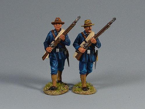 TEAM MINIATURES -REF SPA6027- GUERRE  CUBA1898 - 2 SOLDATS US DEFILANTS
