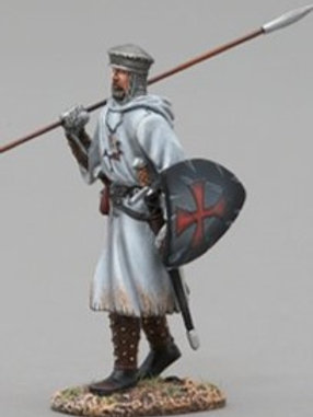 THOMAS GUNN - Rèf MED004B - CROISE MARCHANT AVEC LANCE HAUTE