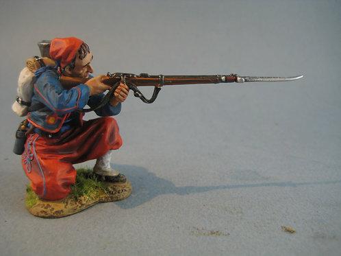 TEAM MINIATURES -REF PFW-Z6009 - guerre de 70 -Zouave tireur à genoux 2