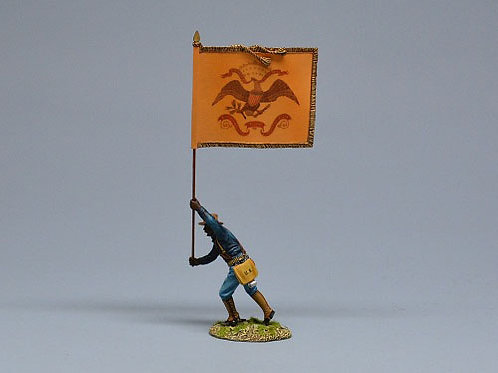 TEAM MINIATURES -REF SPA6010A- GUERRE  CUBA 1898 -SOLDAT US DRAPEAU ROUGH RIDERS