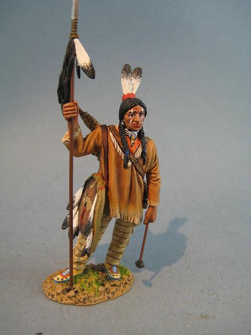 TEAM MINIATURES -REF IDA6006-   Guerrier Sioux avec lance