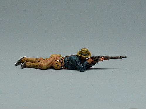 TEAM MINIATURES -REF SPA6009- GUERRE  CUBA 1898 - SOLDAT US TIREUR COUCHE