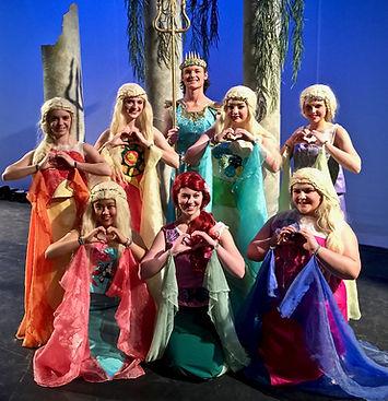 Ariel, Mersisters, King Triton - The Little Memaid Jr costume set rental