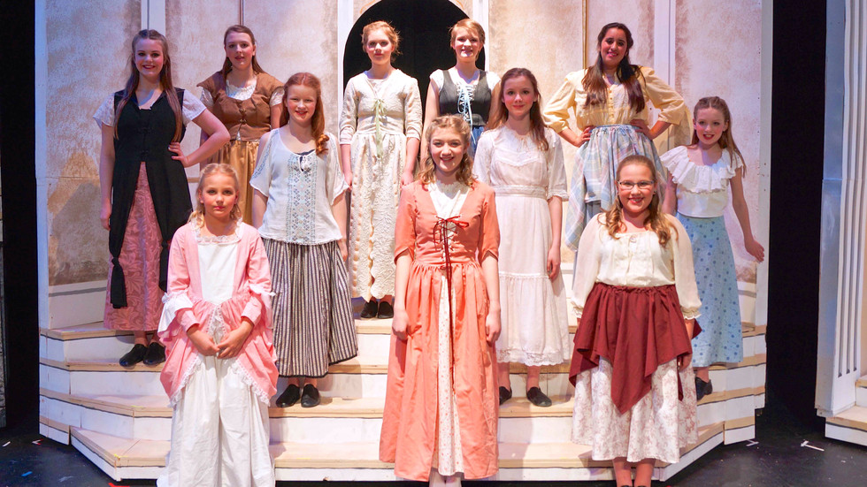 Villager ladies in Beauty & the Beast