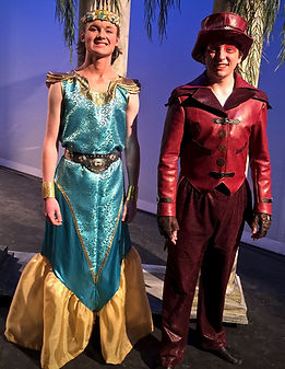 King Triton & Sebastian - The Little Mermaid Jr costume set rental