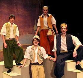 Aladdin, Babkak, Omar, Kassim - Aladdin Jr costume set rental