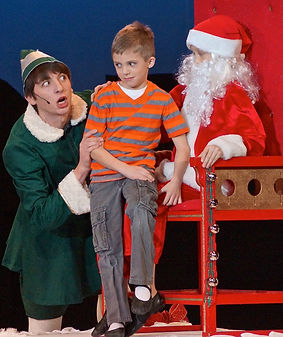 Buddy & fake santa - Elf Jr costume set rental
