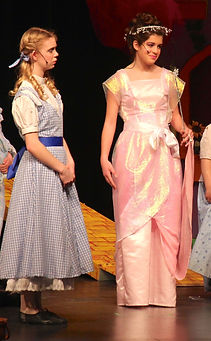 Glinda Dorothy Wizard of Oz YPE costume set rental