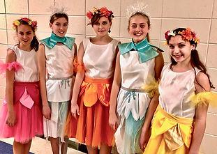Summer Chorus Snow Chorus Frozen Jr costume set rental