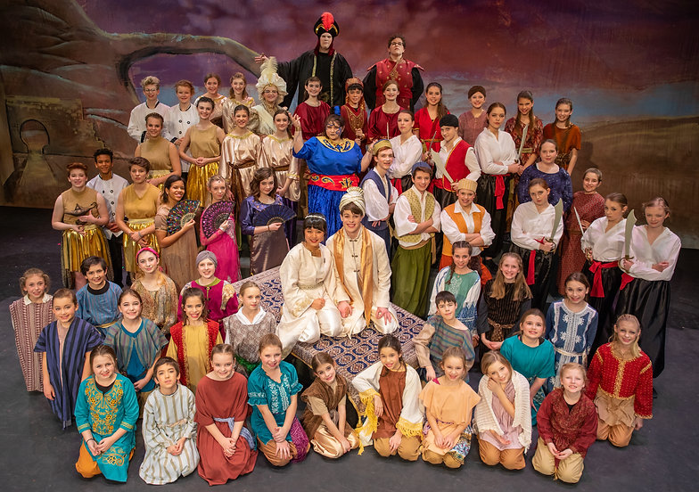 Cast Photo - Aladdin Jr costume set rental