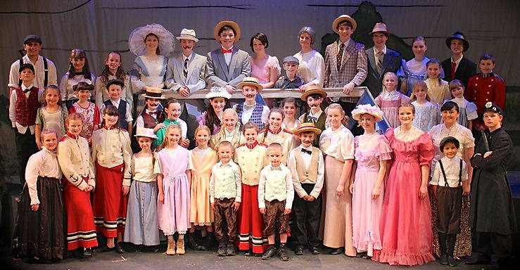full cast The Music Man Jr costume set rental
