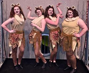 Lionesses - Madagascar Jr costume set rental