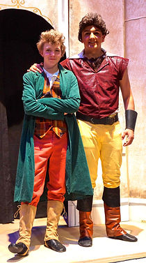 Gaston and LeFou - Beauty & the Beast Jr costume set rental