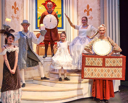 Lumiere, Cogsworth, Mrs Potts, Babette, Madame - Beauty & the Beast Jr costume set rental