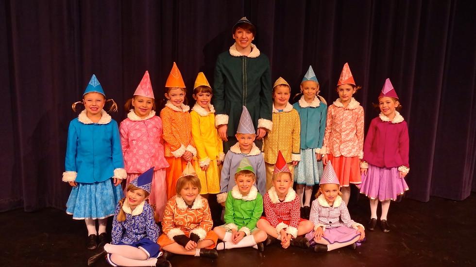 Buddy & elves in Elf Jr