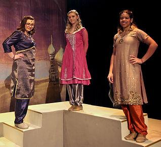 Isir, Manal, and Rajah - Aladdin Jr costume set rental