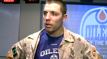 Hockey Players in Military Attire