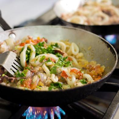 Preparação de frutos do mar