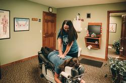 Dr. Tanya adjusting