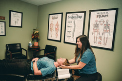 Dr. Katelyn adjusting