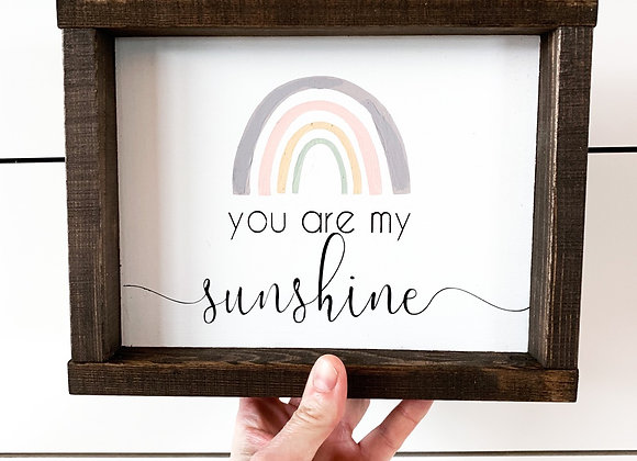 """Rustic Wood Sign """"you are my sunshine"""""""