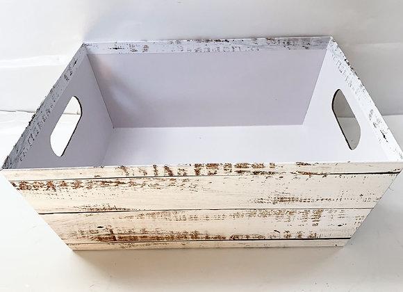 Distressed Wood Print Tray