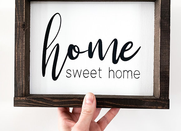"""Rustic Wood Sign """"Home Sweet Home"""""""