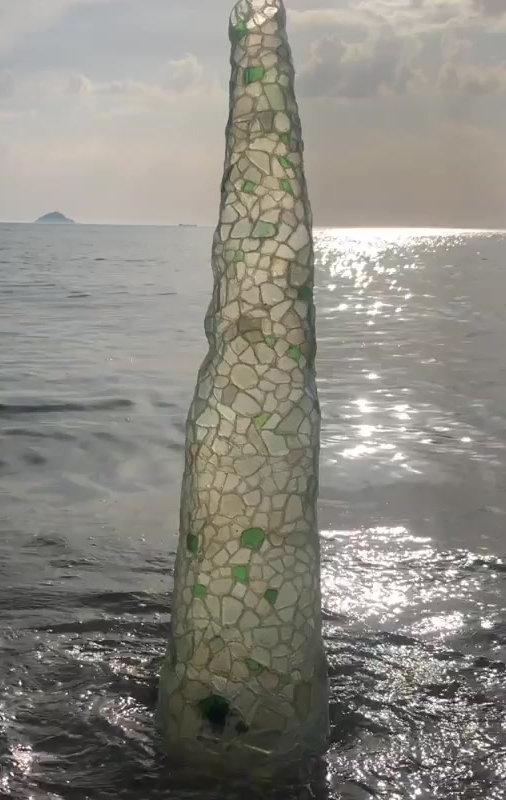 Beach Glass Sculpture