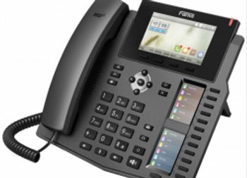 Fanvil X5S 6 line Executive Gigabit Color Display Phone,40 DSS Keys