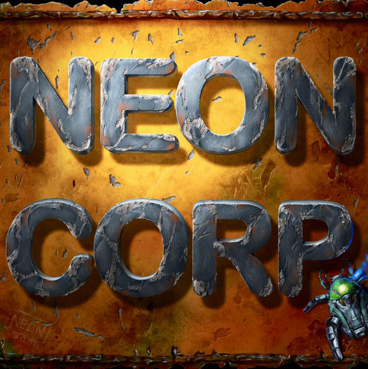 ''Neon Corp'' Badge.