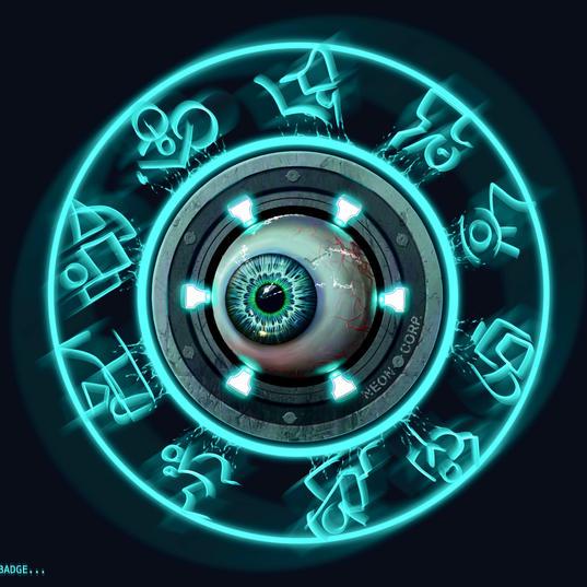 N3000 Badge. (Neon Corp is watching you).
