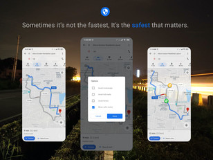 Safe Routes in Google Maps