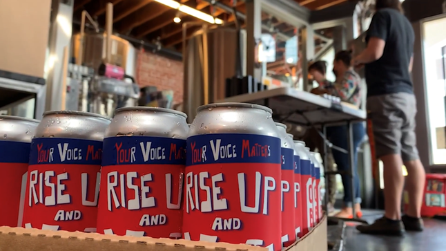 RISE UP AND VOTE 16oz Label