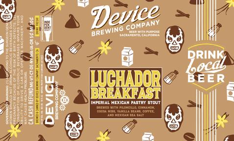 Luchador Breakfast 16oz label