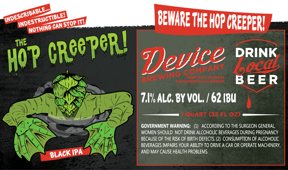 THE HOP CREEPER CROWLER LABEL